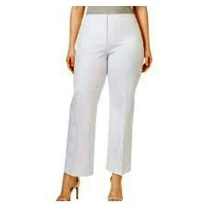 Jaclyn Smith White High Rise Cropped Pants Sz14